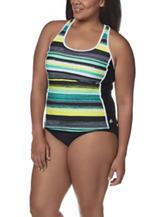 ZeroXposur Plus-size Haze Tankini Swim Top