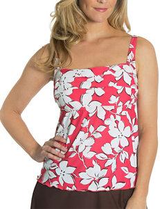 Beach Diva Red Swimsuit Tops Push Up