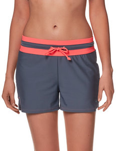 Free Country Solid Color Drawstring Swim Shorts