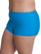Malibu Juniors-plus Turquoise Beach Club Boy Short Swim Bottoms