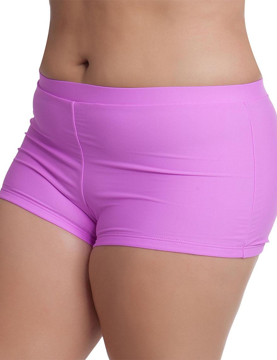 Malibu Light Purple Swimsuit Bottoms Boyshort