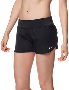 Nike® Core Solid Color Black Bottom Boardshorts
