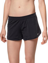 Nike® Black Core Boyshort Swim Bottoms