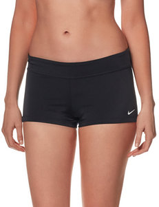 Nike® Core Solid Color Black Boyshort Swim Bottoms