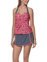 Free Country Coral Coast Flyaway Tankini Swim Top
