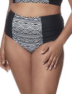 In Mocean Black / White Swimsuit Bottoms Hi Waist