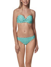 In Mocean Capri Dot Twist Push Up Bandeaukini Swim Top