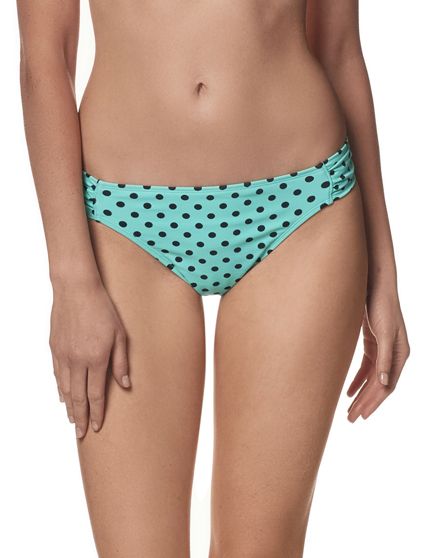 In Mocean Green / Black Swimsuit Bottoms Hipster