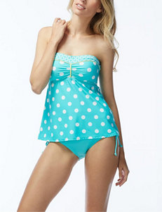 Beach House Turquoise Swimsuit Tops Bandeau