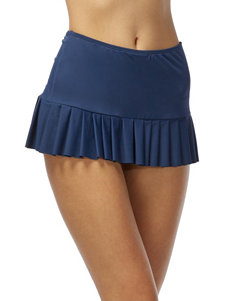 Beach House Pleated Skirtini Swim Bottoms