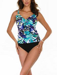 Trimshaper Jungle Gem Amy Tankini Swim Top