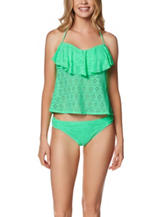 In Mocean Green Flounce Bandeaukini Swim Top