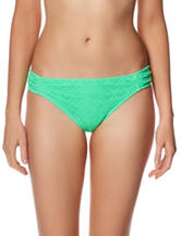 In Mocean Green Crochet Side Tab Hipster Swim Bottoms