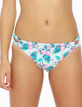 Hot Water Islander Floral Print Hipster Swim Bottoms