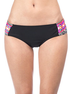 Hobie Black / Multi Swimsuit Bottoms Hipster