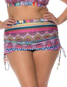 Jessica Simpson Pink / Blue Swimsuit Bottoms Skirtini