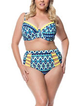 Jessica Simpson Plus-size To Dye For Bralette Swim Top