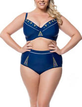 Jessica Simpson Plus-size Wild Thing Bralette Swim Top