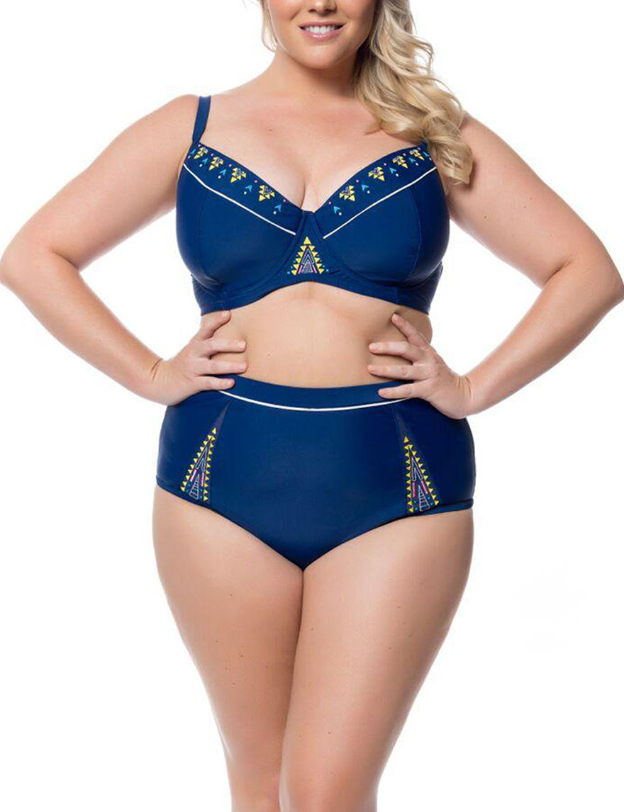 Jessica Simpson Marine Swimsuit Tops Bandeau