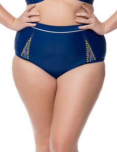 Jessica Simpson Plus-size Wild Thing High Waist Swim Bottoms