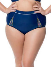 Jessica Simpson Plus-size Wild Thing High Waist Swim Bottoms
