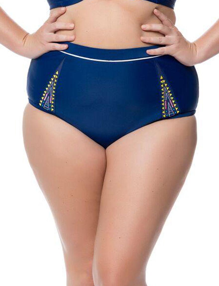 Jessica Simpson Marine Swimsuit Bottoms Hi Waist