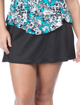 24th & Ocean Plus-size A-line Skirtini Swim Bottoms
