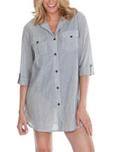Wearbout Summer Camp Shirtdress Swim Cover Up