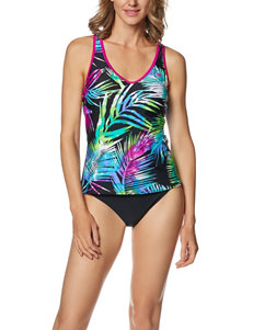 Zero Xposur Dark Purple Swimsuit Tops Tankini