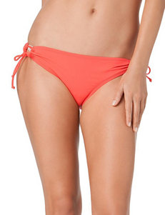 Cole of California Coral Keyhole Tie Bikini Swim Bottoms