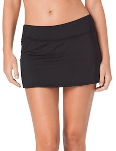 Cole of California Black Zip Pocket Skirtini Swim Bottoms