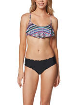 Beach Stop Tribe Talking Flounce Swim Top