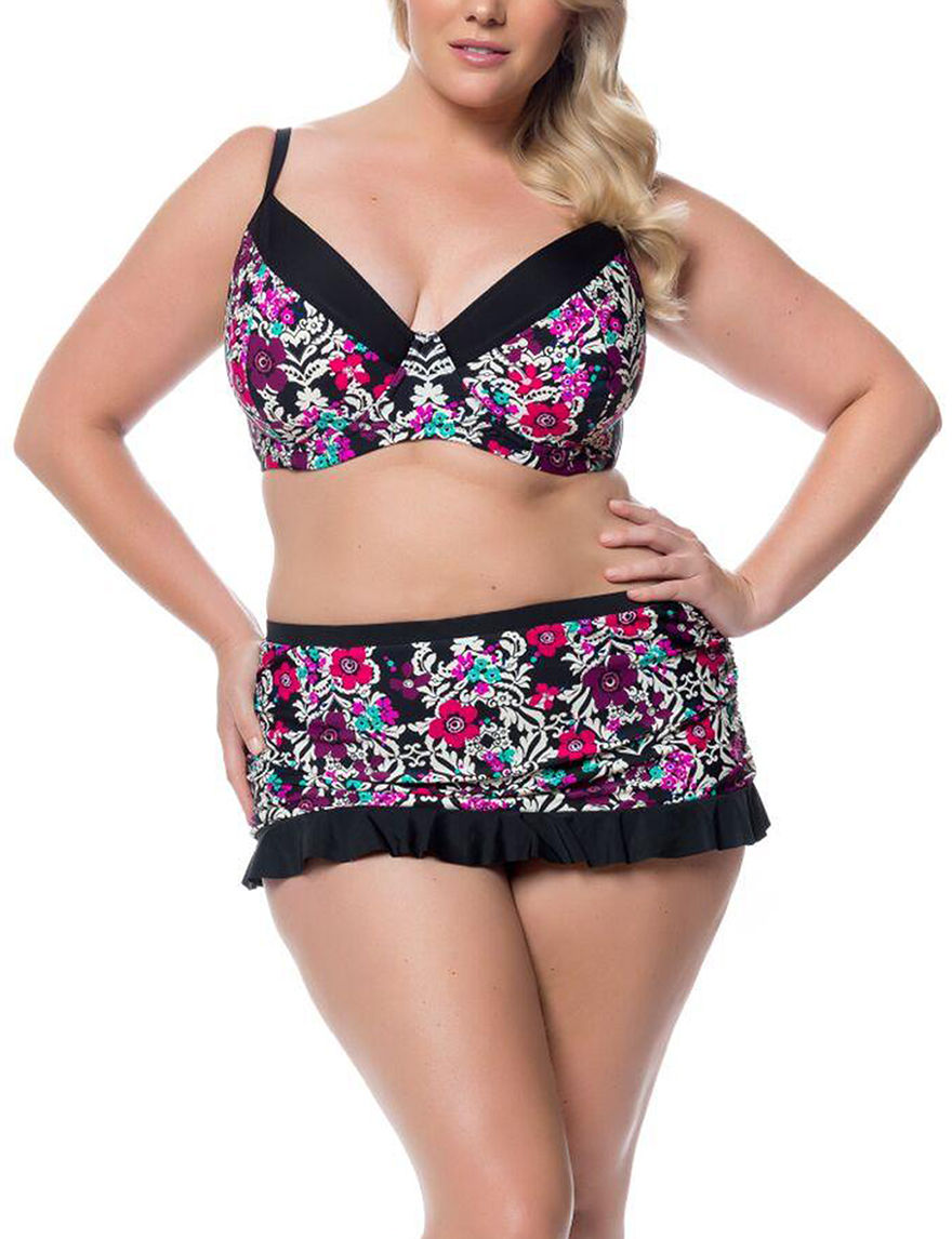Jessica Simpson Black Swimsuit Tops Bandeau