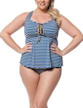 Jessica Simpson Plus-size Sweet Sailor Tankini Swim Top