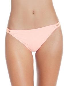 Polka Dot Light Orange Swimsuit Bottoms Hipster