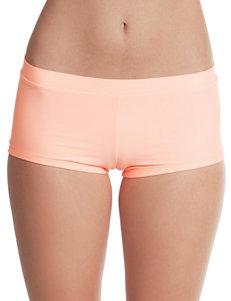 Polka Dot Light Orange Swimsuit Bottoms Boyshort