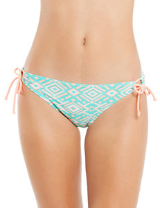 Polka Dot Aqua / Orange Swimsuit Bottoms Hipster