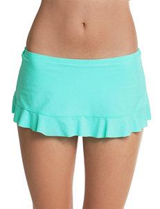 Polka Dot Bright Blue Swimsuit Bottoms Skirtini