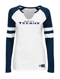 Houston Texans Coin Toss Raglan T-shirt
