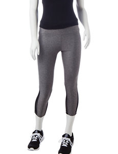 RBX Grey & Black Performance Capri Pants