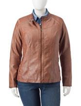 Valerie Stevens Plus-size Moto Jacket
