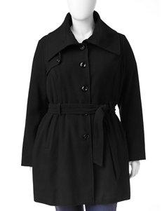 Valerie Stevens Plus-size Belted Faux Wool Peacoat