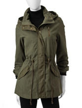Sebby Collection Unlined Canvas Anorak Coat