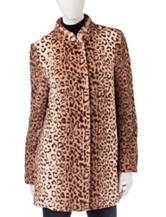 Sebby Collection Leopard Print Coat