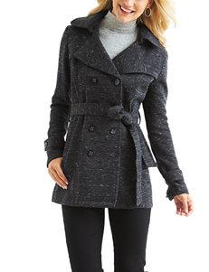 Valerie Stevens Fleece Trench Coat