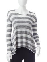Steve Madden Striped Relax Twist Back Pullover Top