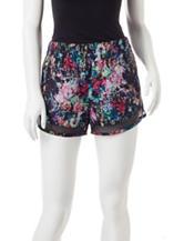 H2 Hannah Performance Floral Print Power Mesh Shorts