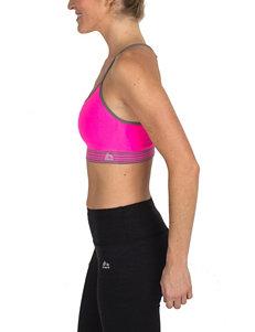 RBX Pink & Grey Stripe Seamless Sports Bra