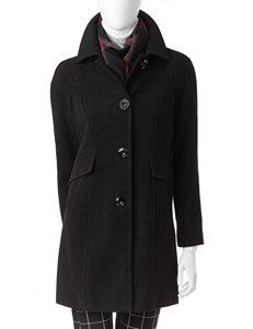 London Fog Black Peacoats & Overcoats