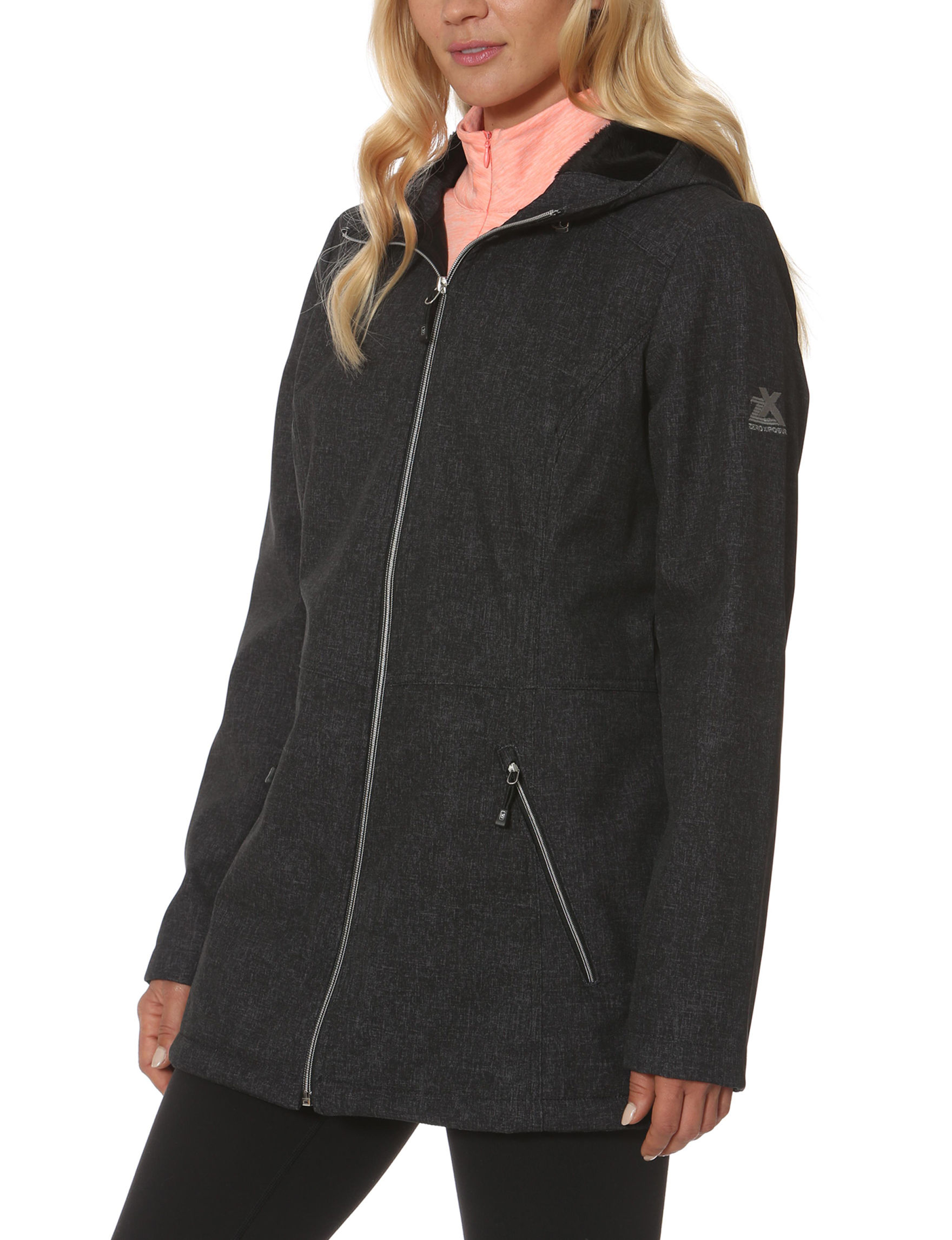Zero Xposur Charcoal Puffer & Quilted Jackets